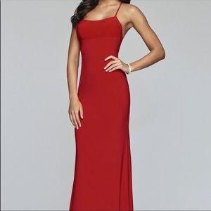 Red Faviana Jersey Maxi Dress
